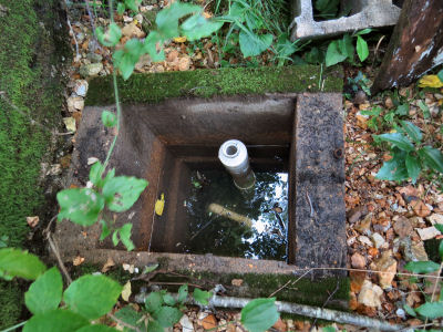 spring box shows spring water problems