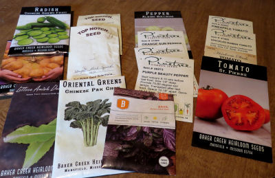 seed packets show seed diversity