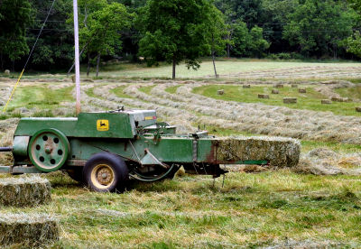 haying time continues with baling