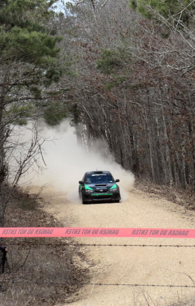 road rally races are held on back country gravel roads